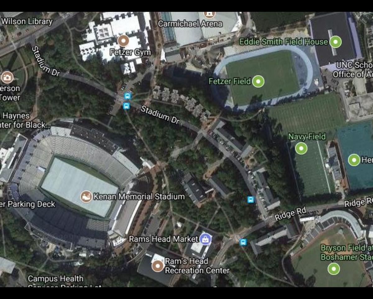 Stadium Drive Lot Maps The University of North Carolina at