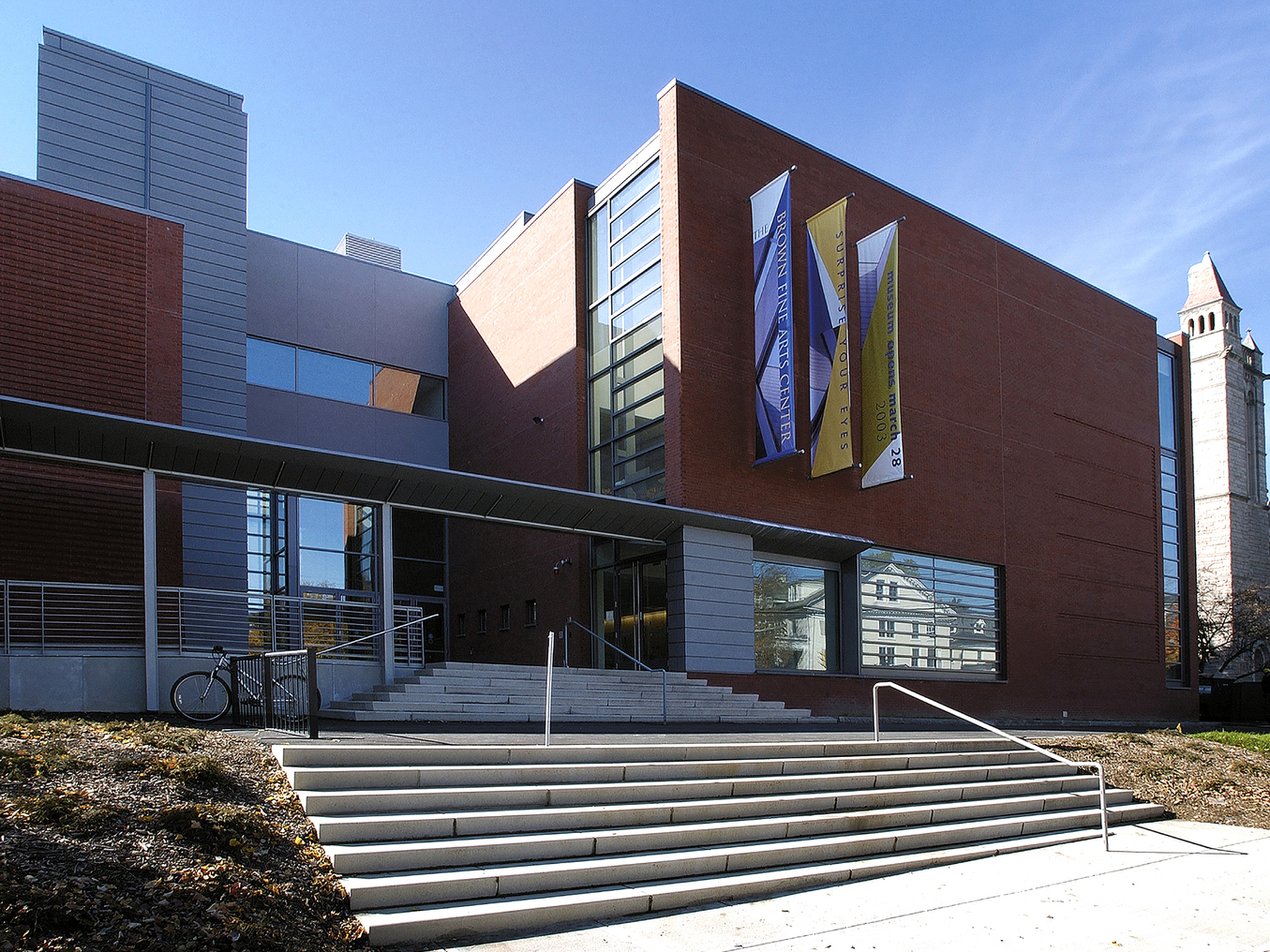 Brown Fine Arts Center outside view